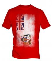 British Antartic Territory Faded Flag Mens T-Shirt