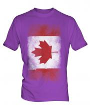 Canada Faded Flag Mens T-Shirt