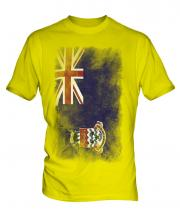 Cayman Islands Faded Flag Mens T-Shirt