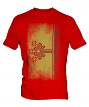 Chuvashia Faded Flag Mens T-Shirt