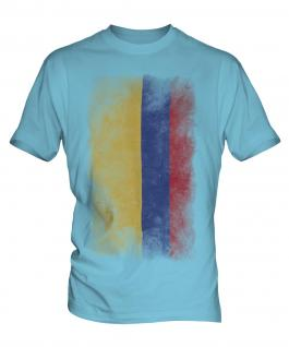 Colombia Faded Flag Mens T-Shirt