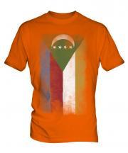 Comoros Faded Flag Mens T-Shirt