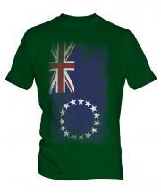 Cook Islands Faded Flag Mens T-Shirt