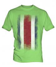 Costa Rica Faded Flag Mens T-Shirt