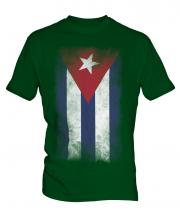 Cuba Faded Flag Mens T-Shirt
