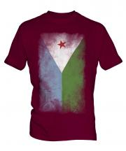 Djibouti Faded Flag Mens T-Shirt