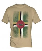 Dominica Faded Flag Mens T-Shirt