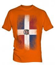 Dominican Republic Faded Flag Mens T-Shirt