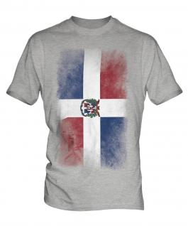 Dominican Republic Faded Flag Mens T-Shirt