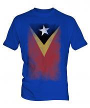 East Timor Faded Flag Mens T-Shirt