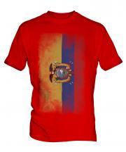Ecuador Faded Flag Mens T-Shirt