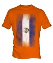 El Salvador Faded Flag Mens T-Shirt