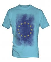 European Union Faded Flag Mens T-Shirt