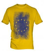 European Union Faded Flag Mens T-Shirt
