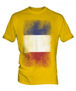 France Faded Flag Mens T-Shirt