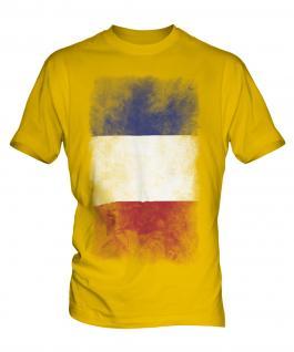 France Faded Flag Mens T-Shirt