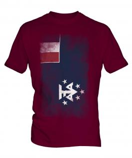 French Southern And Antarctic Lands Faded Flag Mens T-Shirt
