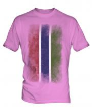 Gambia Faded Flag Mens T-Shirt