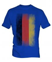 Germany Faded Flag Mens T-Shirt