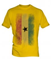 Ghana Faded Flag Mens T-Shirt