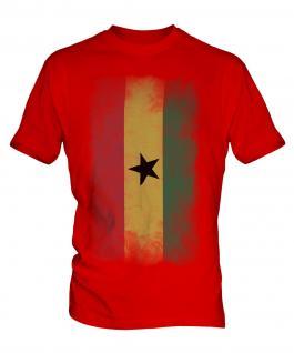 Ghana Faded Flag Mens T-Shirt