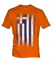 Greece Faded Flag Mens T-Shirt