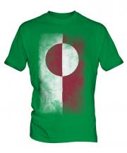 Greenland Faded Flag Mens T-Shirt