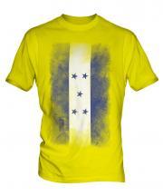 Honduras Faded Flag Mens T-Shirt