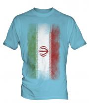 Iran Faded Flag Mens T-Shirt