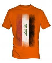 Iraq Faded Flag Mens T-Shirt