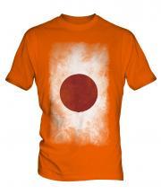 Japan Faded Flag Mens T-Shirt