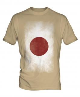 Japan Faded Flag Mens T-Shirt