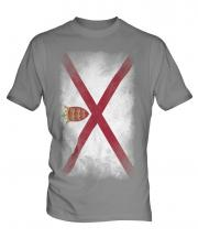 Jersey Faded Flag Mens T-Shirt