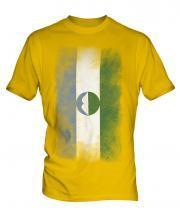 Kabardino-Balkaria Faded Flag Mens T-Shirt
