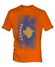 Kosovo Faded Flag Mens T-Shirt