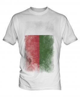 Madagascar Faded Flag Mens T-Shirt