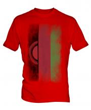 Malawi Faded Flag Mens T-Shirt