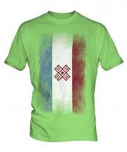 Mari El Faded Flag Mens T-Shirt