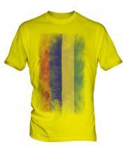 Mauritius Faded Flag Mens T-Shirt