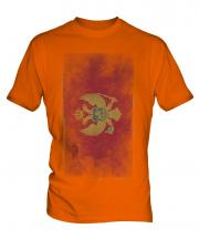 Montenegro Faded Flag Mens T-Shirt
