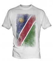 Namibia Faded Flag Mens T-Shirt