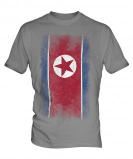 North Korea Faded Flag Mens T-Shirt