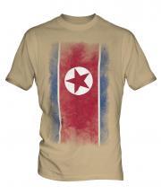 North Korea Faded Flag Mens T-Shirt