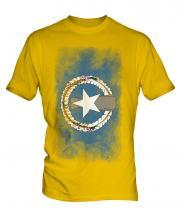 Northern Mariana Islands Faded Flag Mens T-Shirt