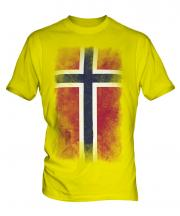 Norway Faded Flag Mens T-Shirt