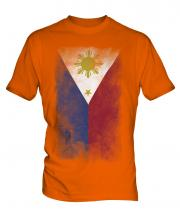 Philippines Faded Flag Mens T-Shirt