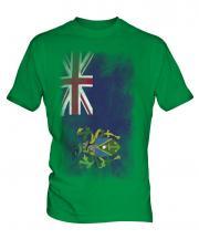 Pitcairn Islands Faded Flag Mens T-Shirt