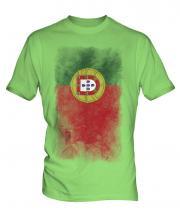 Portugal Faded Flag Mens T-Shirt