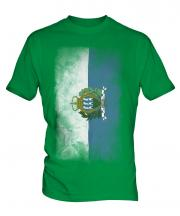 Sao Tome E Principe Faded Flag Mens T-Shirt