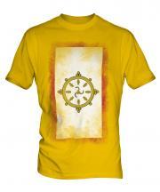 Sikkim Faded Flag Mens T-Shirt